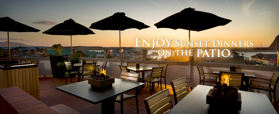 Enjoy Sunset Dinners on the Patio